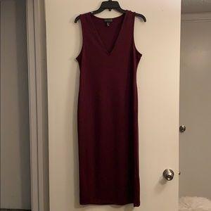 Forever 21 Maroon Midi Bodycon Dress